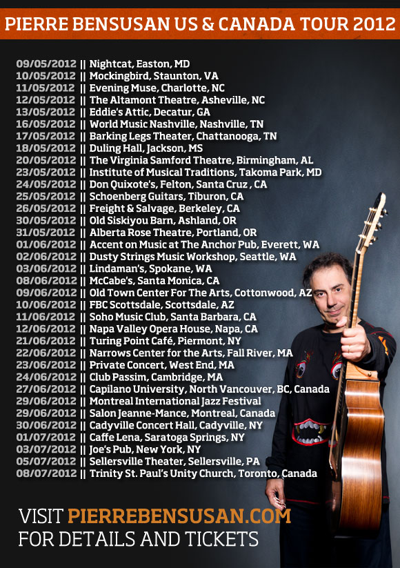Pierre's US & Canada Tour starts on Wednesday...
